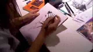 Thought Bubble 2013 - Fiona Staples sketching Marko from Saga