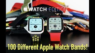 Apple Watch Edition - Series 5 Titanium & Ceramic Except With 100 Different Authentic Watch Bands!