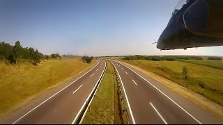 Serbian Air Force - Super Galeb G-4 Extreme Low flying over Highway