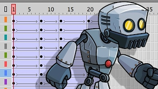 How to Animate a Walk Cycle in Adobe Animate - Robot Edition!