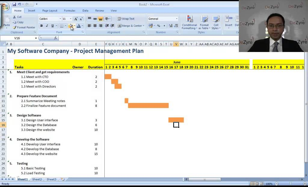 microsoft excel for project management youtube