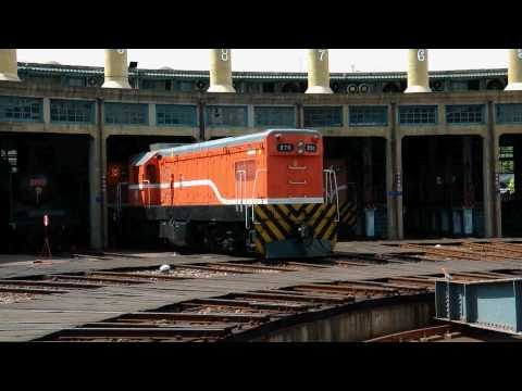 [HD] The Taiwan TRA GM EMD G12 R50 R70 at the Changhua Rolling Stock Branch