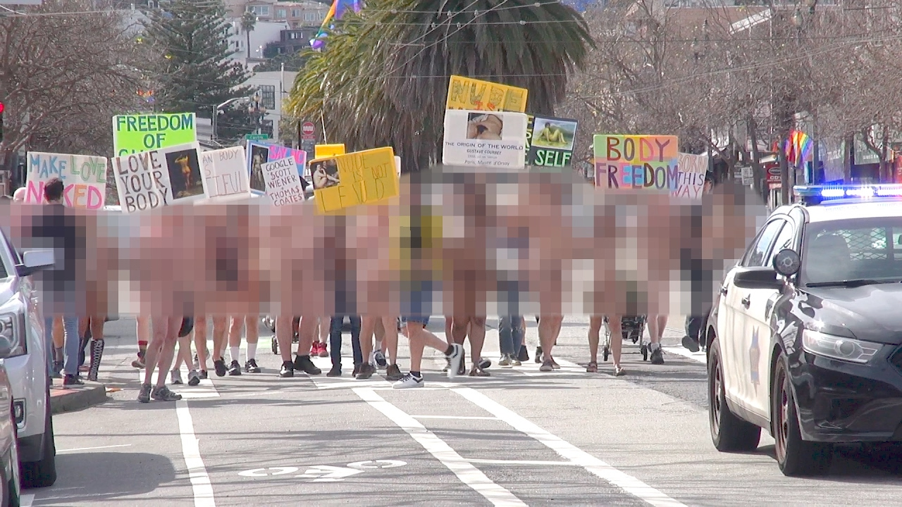 2nd Annual San Francisco Valentines Nude Love Parade 2017 ...