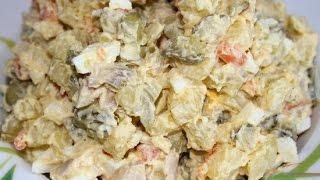 Салат Праздничный. Салат с курицей и ветчиной. Рецепт вкусного салата с ветчиной