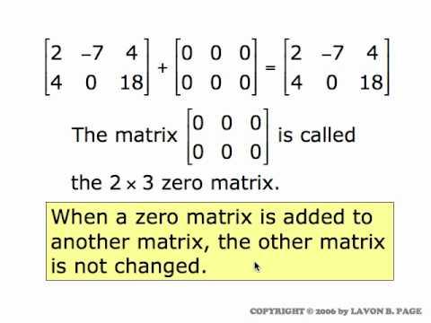 √ Matrix Addition   Matrix operations   Matrices   Mathematics from YouTube · Duration:  4 minutes 10 seconds