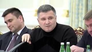 Драка Арсен Аваков и Михаил Саакашвили