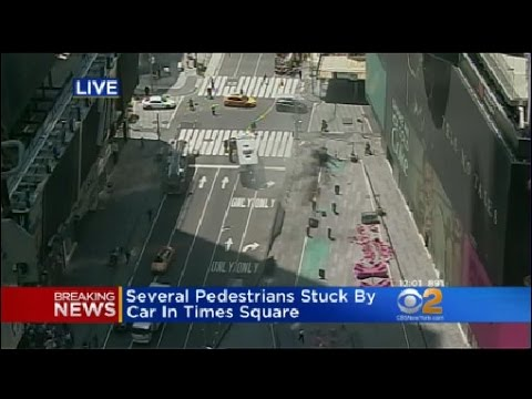 Emergency Responders On Scene Of Times Square Crash