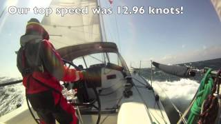 Shearwater - What 30-40 knots looks like, Porto to Gibraltar