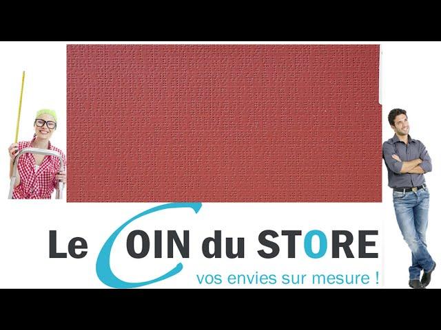 Toile PVC pour pergola et store Soltis Perform 92 Muscat rouge basque 50260 Serge Ferrari