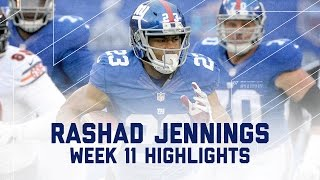 Rashad Jennings' 129-Yard Day | Bears vs. Giants | NFL Week 11 Player Highlights