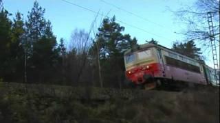 Czech passenger train passing