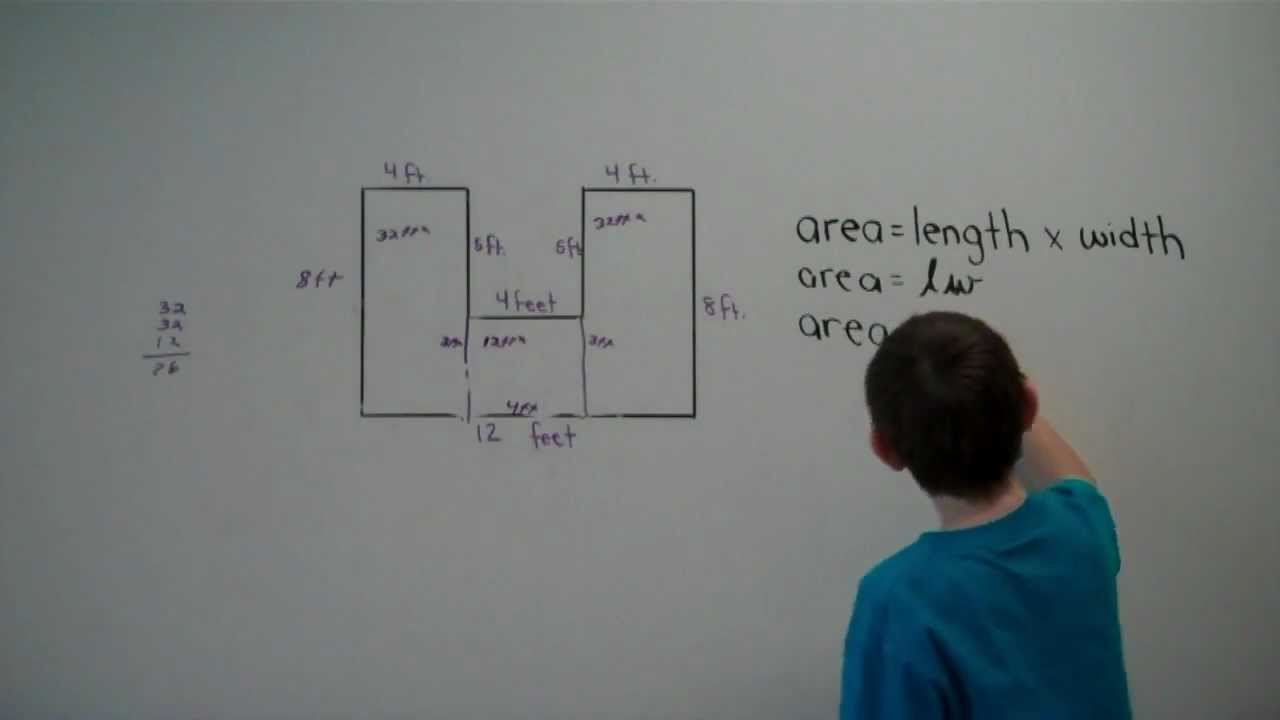 Finding Area of Irregular Shapes YouTube – Area and Perimeter of Irregular Shapes Worksheet
