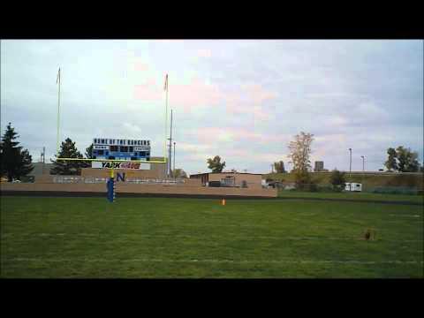 Arik kicks field goals at Northwood High School  10-7-12
