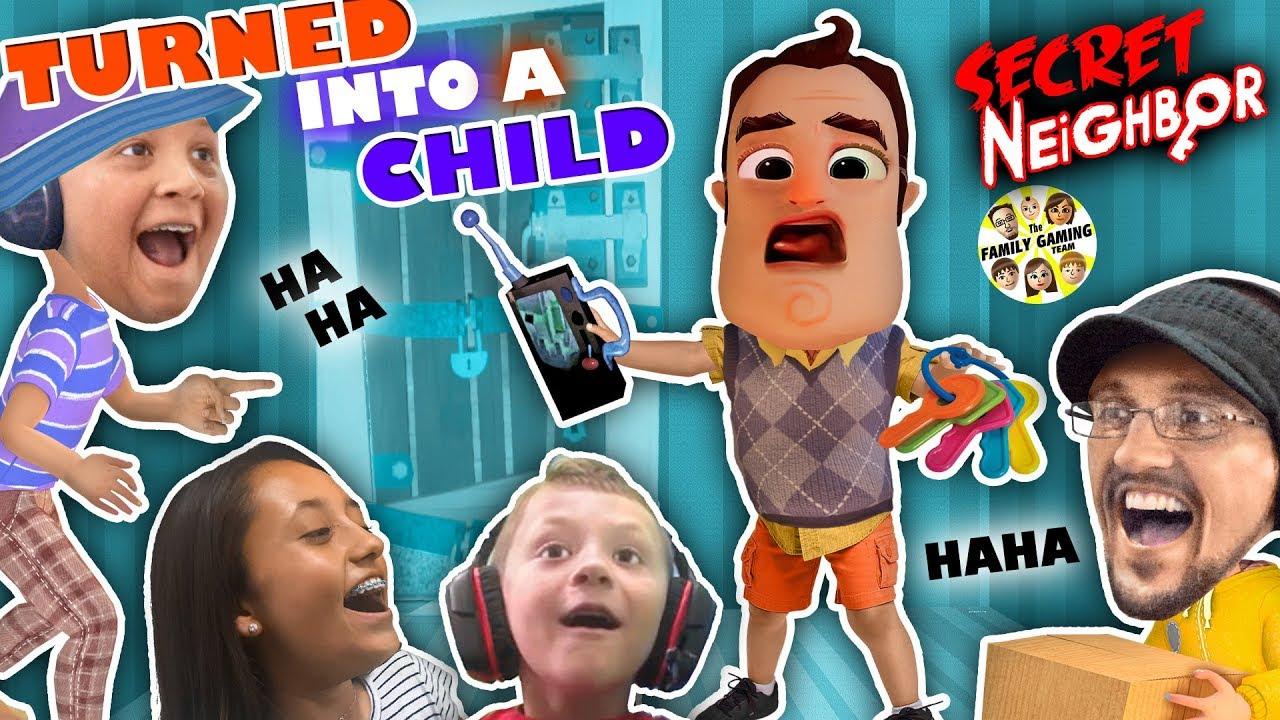 HELLO NEIGHBOR is a KID!! Hide n Seek 4 Player Basement Escape Game (FGTEEV Skit)