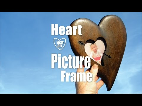 DIY Wood Heart Picture Frame Valentines Day Craft