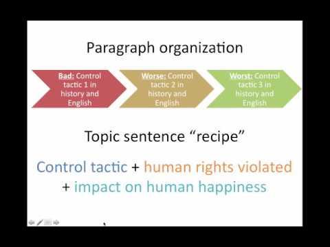 Thesis and Topic Sentences - Control Tactics Paper