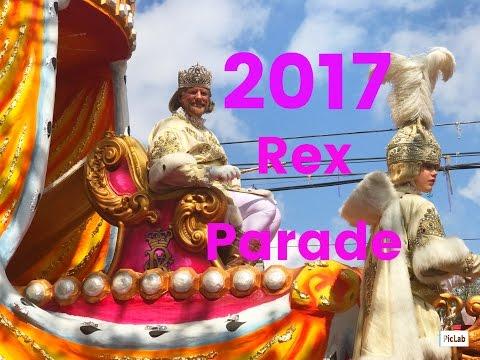 2017 Krewe of Rex Parade New Orleans Mardi Gras King of Carnival