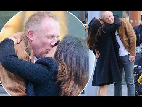 cb963714b Salma Hayek plants a big smooch on husband Francois Henri Pinault at  Heathrow
