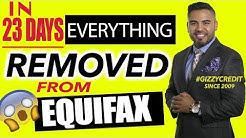 Must Watch!!Everything removed off Equifax in 23 days/Delete Judgment/ credit repair Im scared!