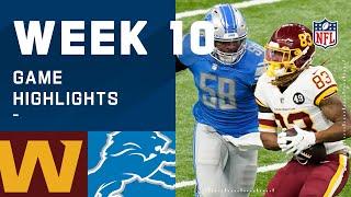 Washington Football Team vs. Lions Week 10 Highlights   NFL 2020