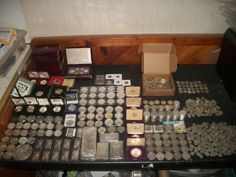 Full Silver Stack Hoard Bars & 90% Coins .999 Bullion 25 Pounds=400 Ounces