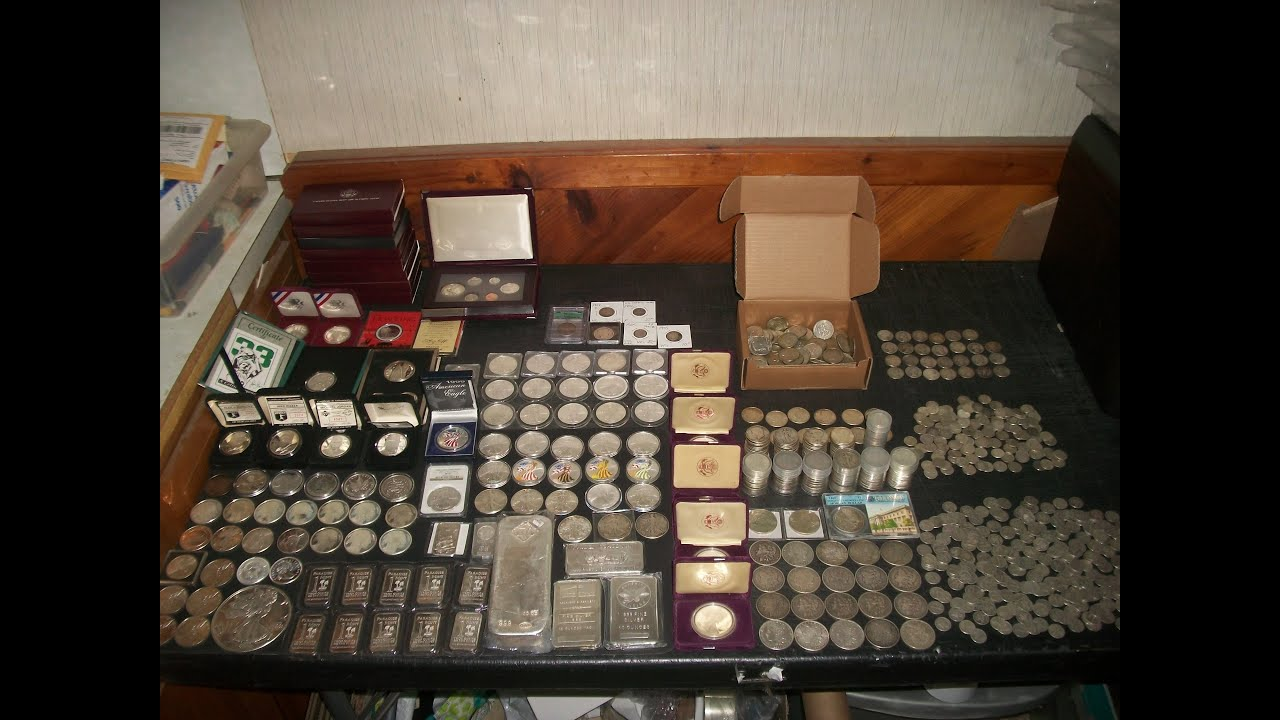 Full Silver Stack Hoard Bars Amp 90 Coins 999 Bullion 25