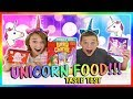 TRYING THE BEST UNICORN FOOD CHALLENGE | We Are The Davises