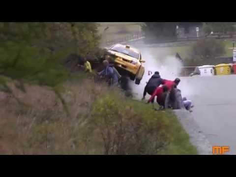 อุบัติเหตุ รถแข่งแรลลี่เสียหลักพุ่งชนกลุ่มคนดูที่โชคดีที่สุด