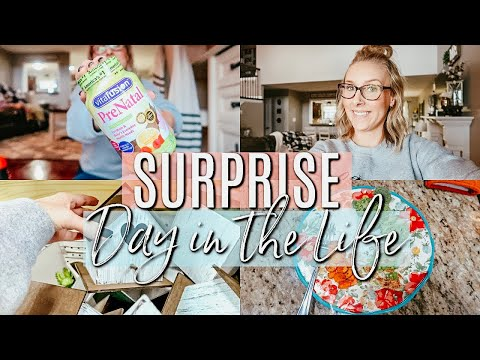 SURPRISE!!- DAY IN THE LIFE OF A STAY AT HOME MOM-WHAT I EAT IN A DAY (WEIGHT LOSS)