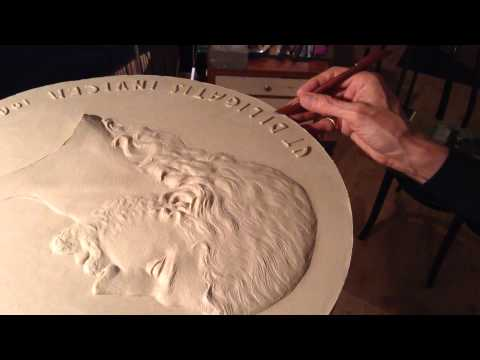 DELISSALDE sculptor: Bas-Relief Sculpture (Jésus-Christ) Jesus Christ (Medallion) - Mar 19, 2014
