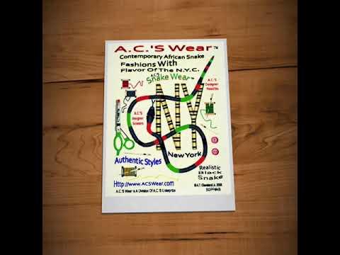 A.C.'S Unique Snake Graphic Artwork.
