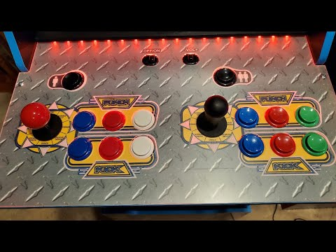 Testing Sanwa Joystick/Buttons on Marvel Vs Capcom Arcade 1up from Kongs-R-Us