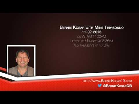 Bernie Kosar with Mike Trivisonno on WTAM 11-02-2015