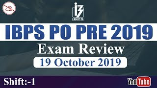 IBPS PO PRE 2019 | Exam Review | Shift 1 | 19.09.2019 | Asked Questions & Expected Cut-Offs