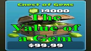 The Value a Gem in Clash of Clans
