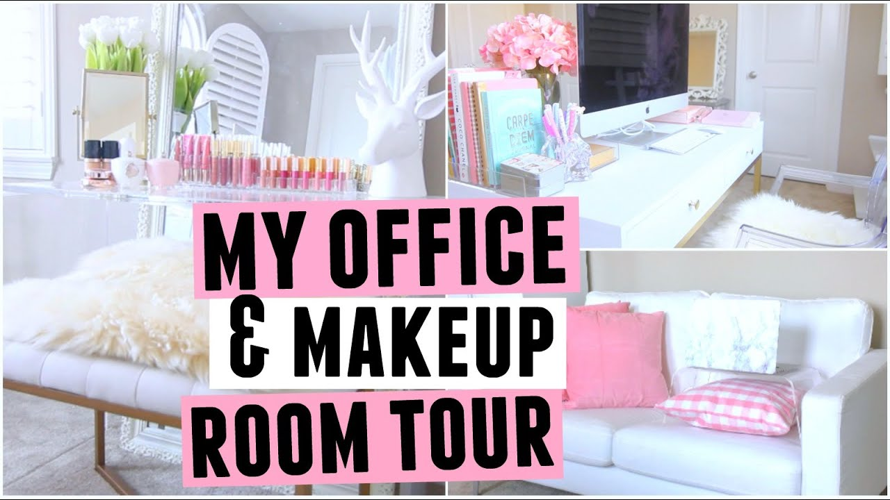My New Office & Makeup ROOM TOUR!