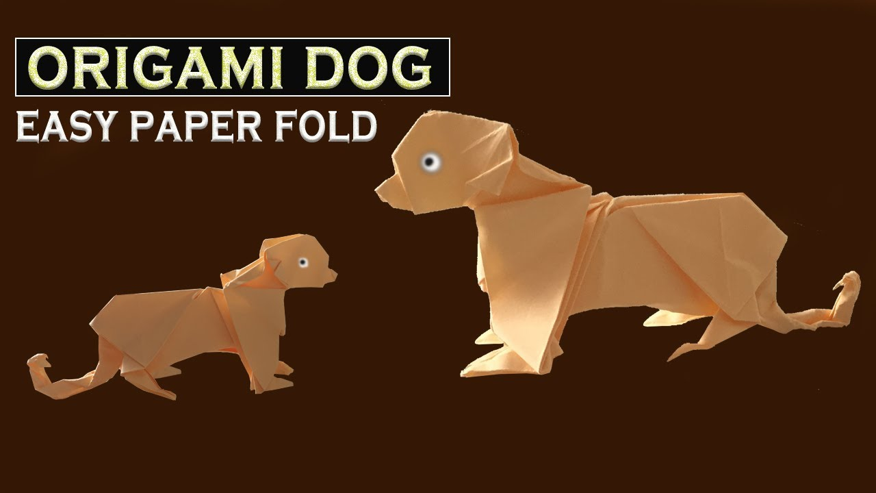 How to make a cool paper Dog - Origami Folds (Tutorial)