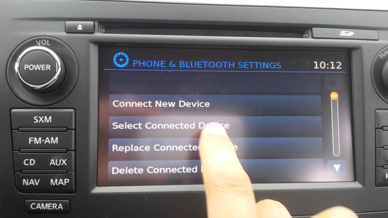 2016 Nissan Altima How To Delete A Phone