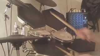 SIMMONS SDS 8 DRUMS. Genesis - Invisible Touch. DRUM COVER