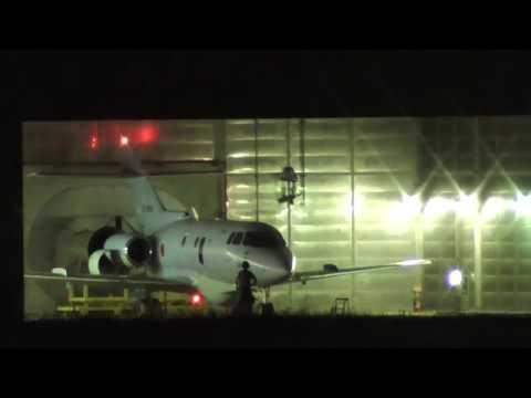 空自 小牧基地U-125A エンジンテスト