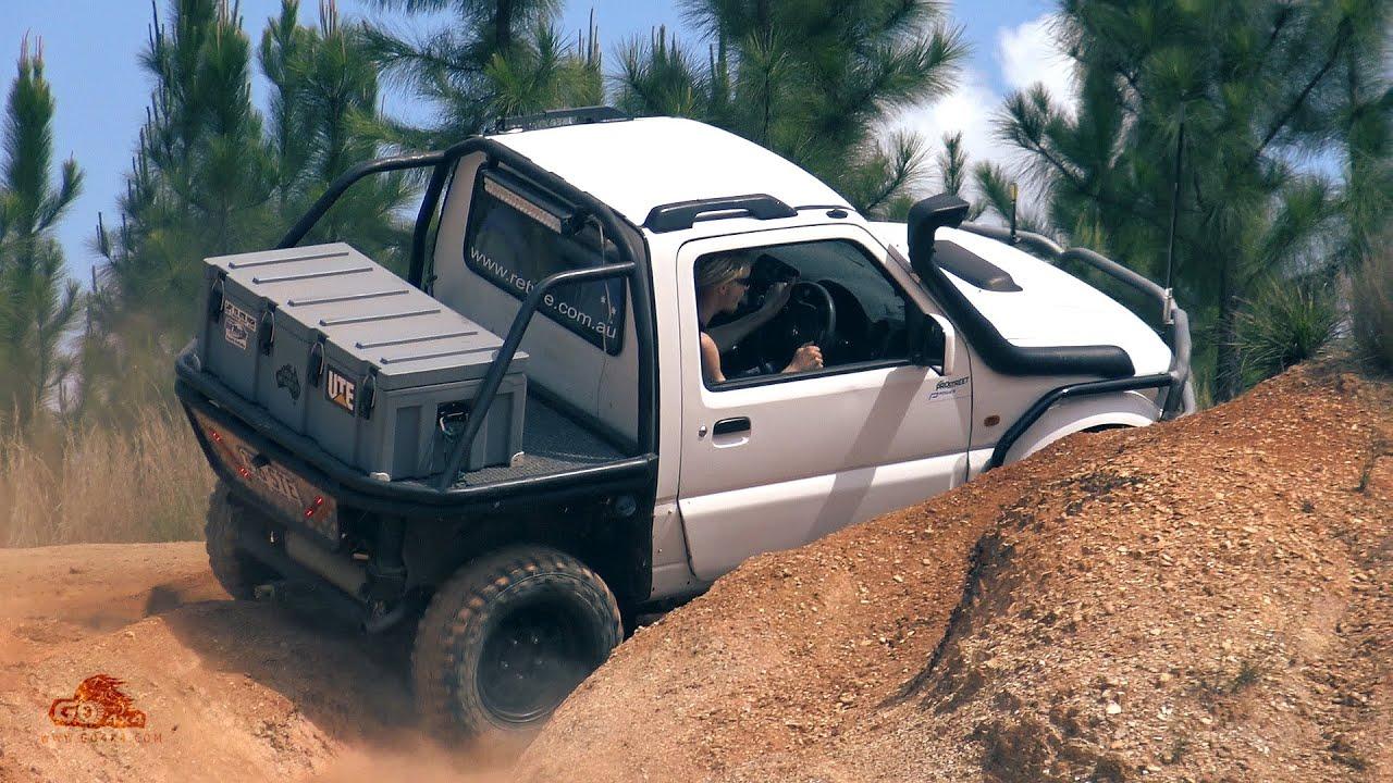 Modified Suzuki Jimny offroading - custom ute zook 4wd 4x4