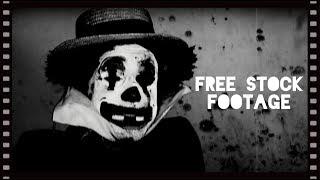 'CREEPY CLOWN SILENT FILM' Free Stock Footage
