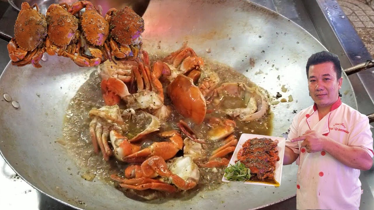 Đầu Bếp Sài Gòn tiết lộ cách làm món cua sốt tiêu cực đơn giản mà siêu ngon