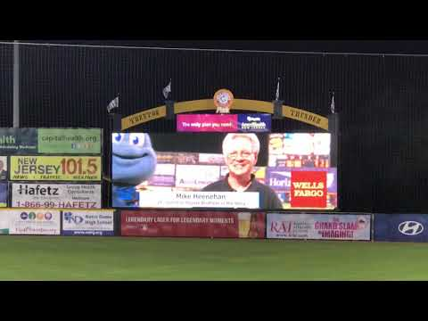 Mike Heenehan Honored by the Trenton Thunder!