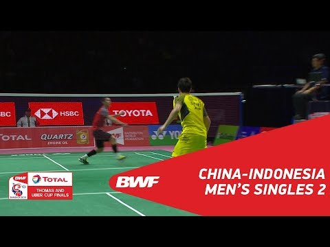Thomas Cup | MS2 | SHI Yuqi (CHN) vs Jonatan CHRISTIE (INA)