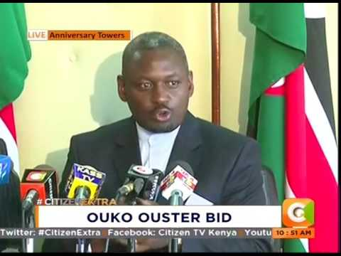 Auditor General Edward Ouko speaks on his ouster bid