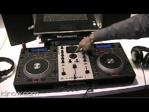 NUMARK MIXDECK CD MP3 USB SOFTWARE IPOD PLAYER CONTROLLER AT NAMM 2010 WITH IDJNOW