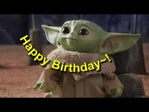 Baby Yoda Happy Birthday E Card Youtube