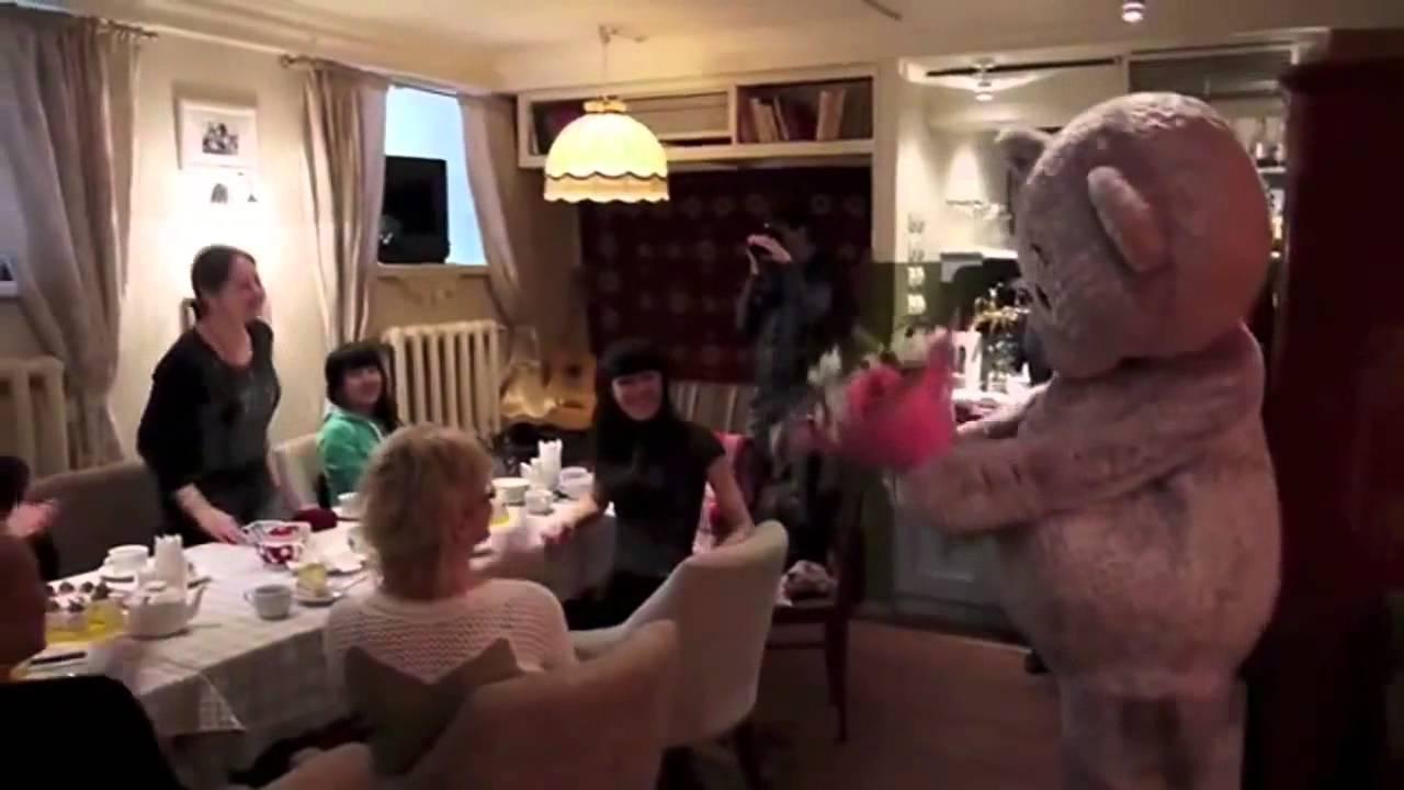 ростовая кукла панда - YouTube