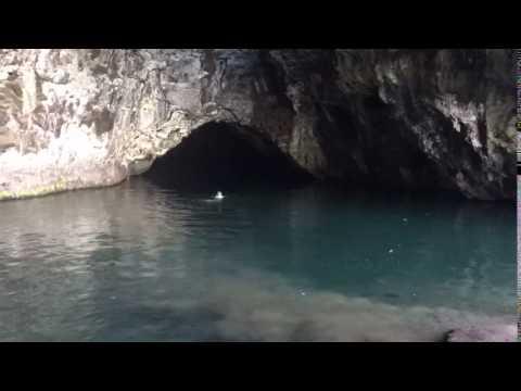 Cave Swimming, Ha'ena State Park, Kauai, Hawaii